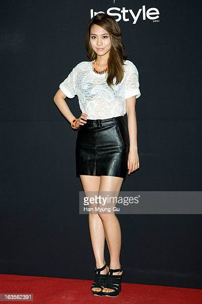 Fei of girl group Miss A attends charity party for the Instyle '10Stars x 10Love' at Galleria Department Store on March 12 2013 in Seoul South Korea