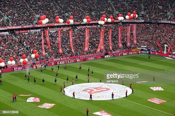 Feierlichkeiten zur 25 Meisterschaft in der Allianz Arena Übersicht Fussball Bundesliga FC Bayern München FSV Mainz