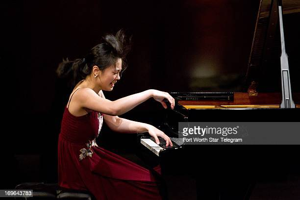 FeiFei Dong of China performs during the sixth day of the preliminary round of the 14th Van Cliburn International Piano Competition in the Bass...