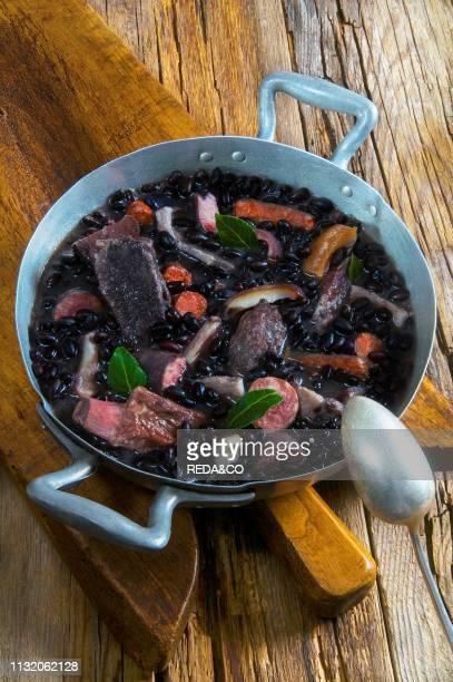 Feijoada black beans and pork stew Brazil