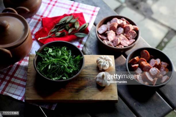 feijoada ingredients - feijoada imagens e fotografias de stock