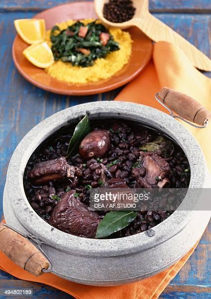 Feijoada pork and black bean stew Brazil
