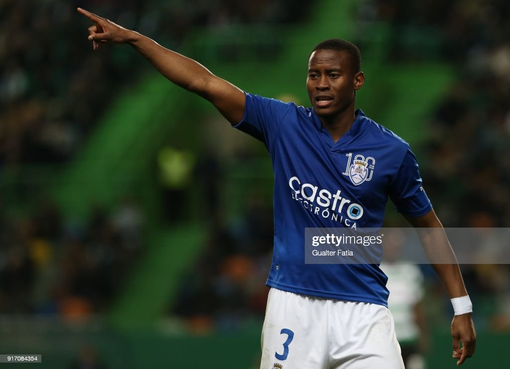 CD Feirense defender Alex Kakuba from Uganda in action during the Primeira Liga match between Sporting CP and CD Feirense at Estadio Jose Alvalade on February 11, 2018 in Lisbon, Portugal.