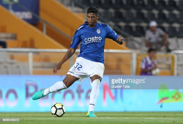 CD Feirense defender Flavio Ramos from Brazil in action during the Portuguese Primeira Liga match between Portimonense SC and CD Feirense at Estadio...