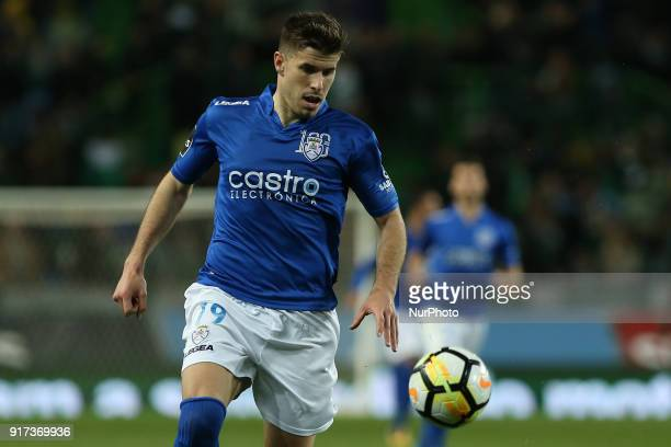 Feirense forward Joao Silva from Portugal during the Premier League 2017/18 match between Sporting CP and CD Feirense at Estadio Jose Alvalade on...