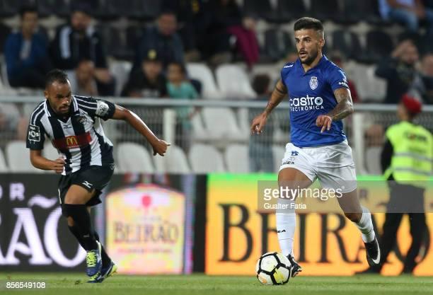 CD Feirense forward Tiago Silva from Portugal in action during the Portuguese Primeira Liga match between Portimonense SC and CD Feirense at Estadio...
