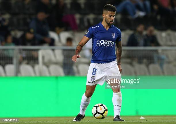 CD Feirense forward Tiago Silva from Portugal in action during the Portuguese Primeira Liga match between Portimonense SC and CD Feirense at Estadio...
