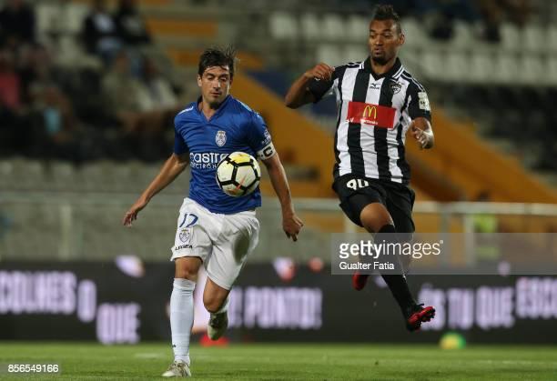 CD Feirense midfielder Cris Santos from Brazil with Portimonense SC forward Fabricio from Brazil in action during the Portuguese Primeira Liga match...