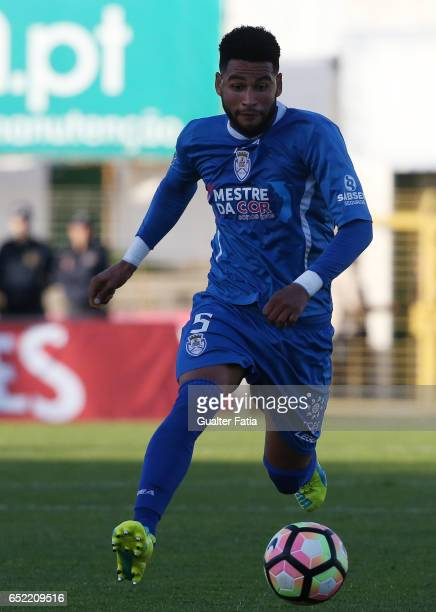 Feirense's defender Babanco in action during the Primeira Liga match between Vitoria Setubal and CD Feirense at Estadio do Bonfim on March 11 2017 in...