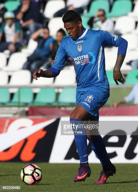 Feirense's defender Flavio Ramos from Brasil in action during the Primeira Liga match between Vitoria Setubal and CD Feirense at Estadio do Bonfim on...