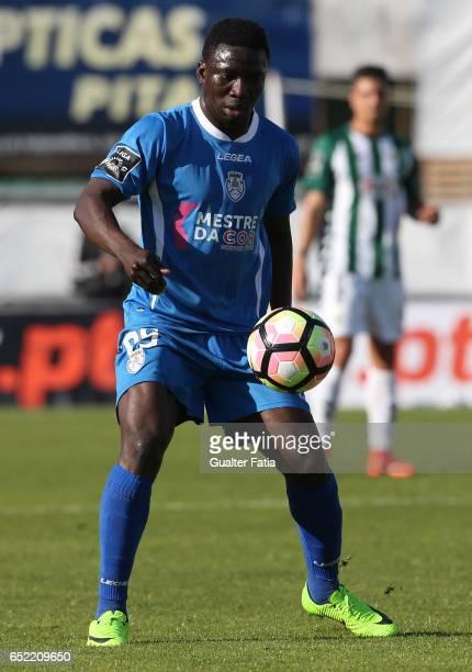 Feirense's forward Oghenekaro Etebo from Cape Verde in action during the Primeira Liga match between Vitoria Setubal and CD Feirense at Estadio do...