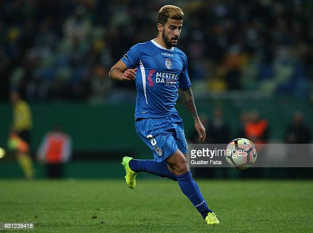 Feirense's midfielder Tiago Silva from Portugal in action during the Primeira Liga match between Sporting CP and CD Feirense at Estadio Jose Alvalade...