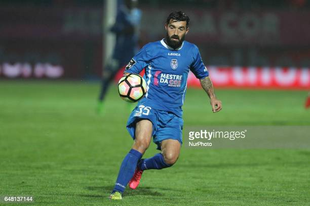 Feirense's Portuguese defender Sergio Barge in action during the Premier League 2016/17 match between CD Feirense and SL Benfica at Marcolino de...