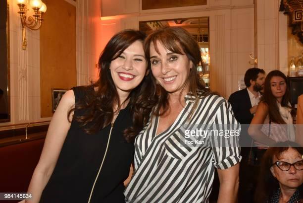 Feirouz Guettiche and writer Anna Veronique El Baze attend 'L'Ete Litteraire Des Deux Magots ' Book Signing Cocktail at Les Deux Magots Cafe on June...