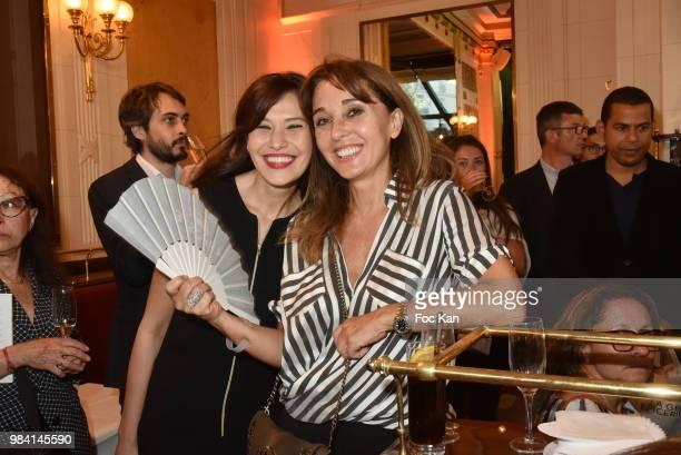 Feirouz Guetticheand writer Anna Veronique El Baze attend 'L'Ete Litteraire Des Deux Magots ' Book Signing Cocktail at Les Deux Magots Cafe on June...