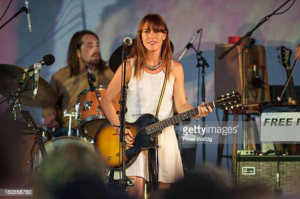 Feist performs on stage at the Tanzbrunnen on August 21 2012 in Cologne Germany