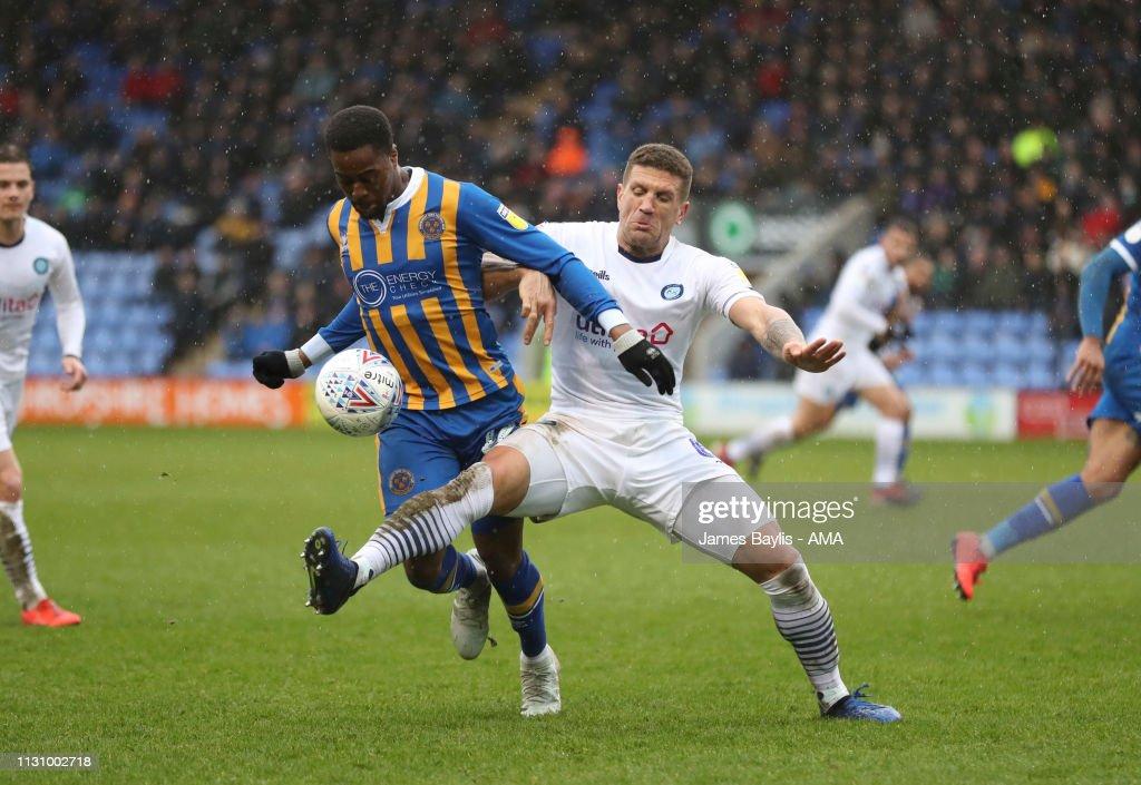 Shrewsbury Town v Wycombe Wanderers - Sky Bet League One : News Photo