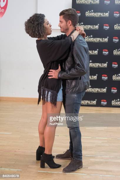 Fela Domínguez y Maxi Iglesias during the rehearsal of the musical of the bodyguard In Spain will premiere on September 28 2017 at the Teatro...