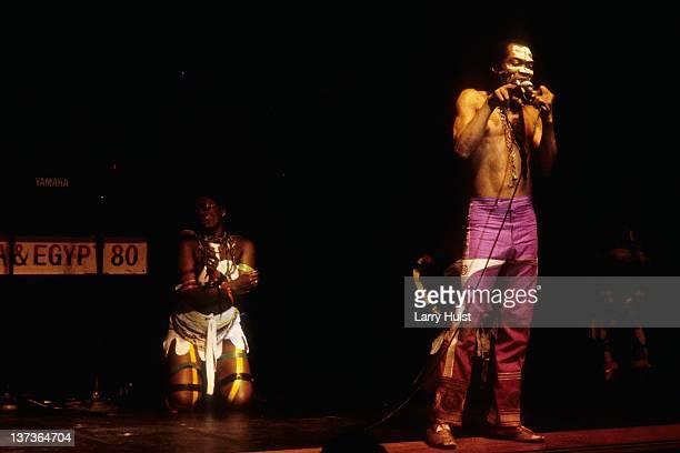 Fela Kuti performing at the Community Center in Berkeley California on November 14 1986