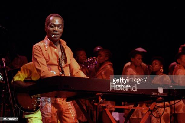 Fela Kuti performing at the Warfield Theater in San Francisco on July 24 1990