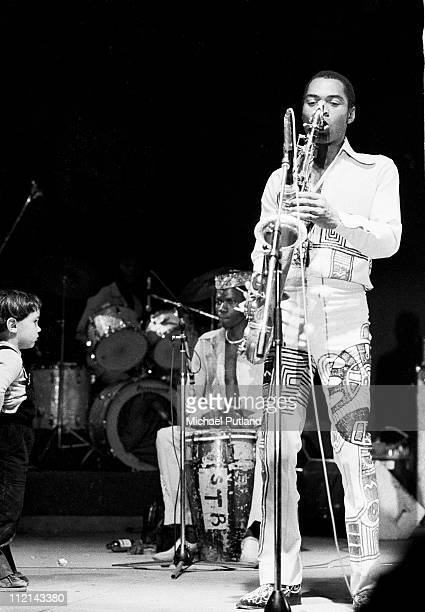 Fela Kuti performs on stage Paris 1981