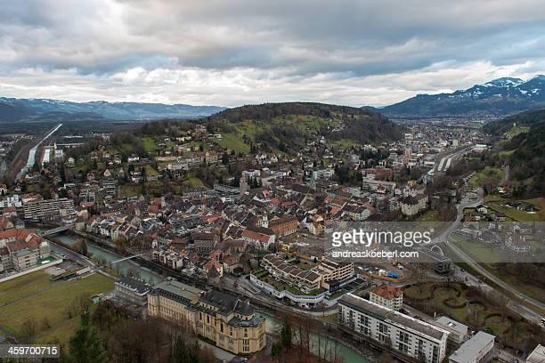 Feldkirch, Austria, from Stadtschrofen with clouds