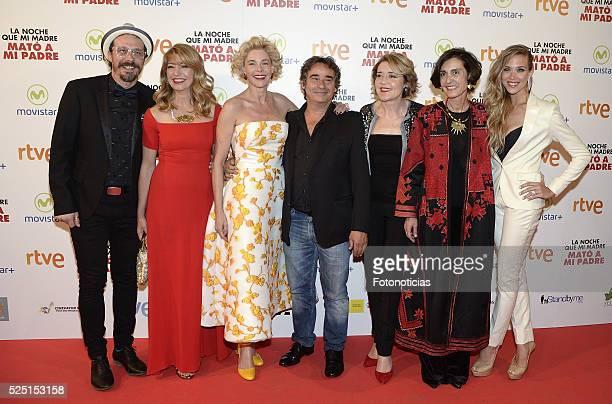 Fele Martinez Ines Paris Belen Rueda Eduard Fernandez Maria Pujalte and Patricia Montero attend the 'La Noche Que Mi Madre Mato a Mi Padre' premiere...