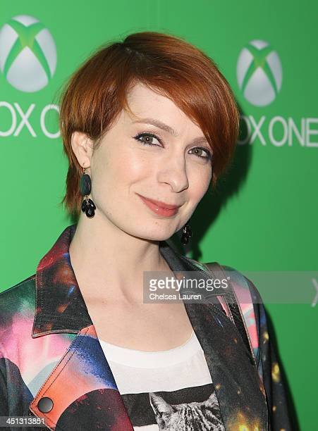 Felica Day attends the Xbox One Launch at Milk Studios on November 21 2013 in Los Angeles California