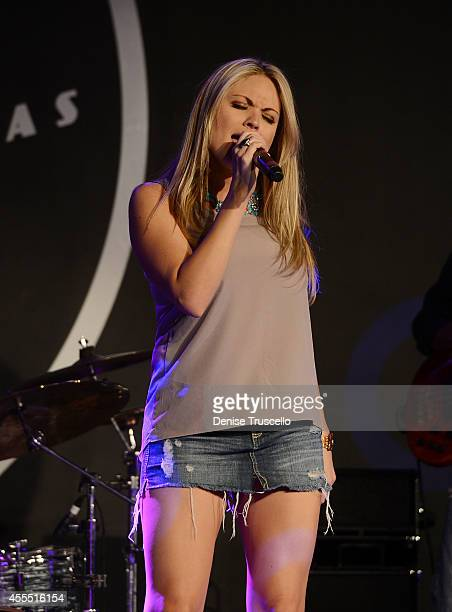 """Felice Garcia performs at Mondays Dark """"Gone Country"""" benefiting the Douglas J. Green Memorial Foundation at Vinyl at the Hard Rock Hotel & Casino on..."""