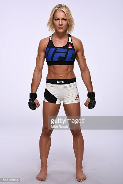 Felice Herrig poses for a portrait during a UFC photo session at the Crowne Plaza Chicago Metro Downtown on July 20 2016 in Chicago Illinois
