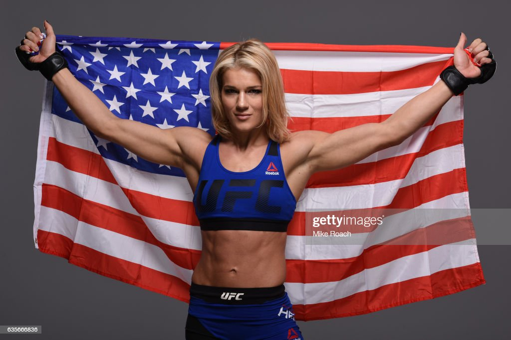 Felice Herrig poses for a portrait during a UFC photo session at the Sheraton North Houston at George Bush Intercontinental on February 1, 2017 in Houston, Texas.