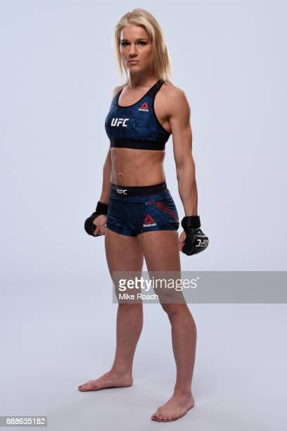 Felice Herrig poses for a portrait during a UFC photo session on November 29 2017 in Detroit Michigan