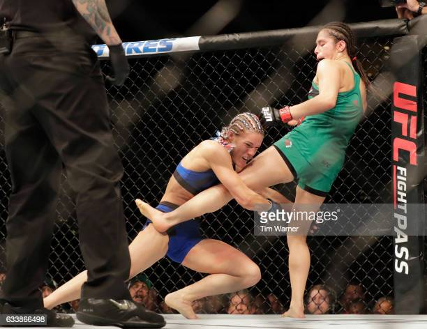 Felice Herrig takes down Alexa Grasso of Mexico in the second round on February 4 2017 in Houston Texas