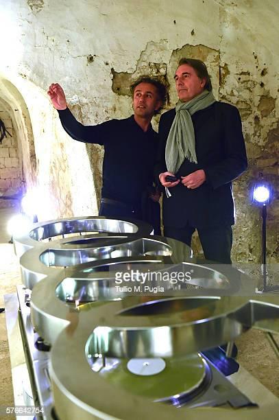 Felice Limosani and Carlo Massarini attend Locus Festival 2016 on July 16 2016 in Locorotondo near Bari Italy