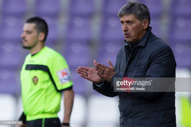 Felice Mazzu head coach of Charleroi during the Jupiler Pro League playoff 2 group A match between Beerschot Wilrijk and Sporting Charleroi on May 11...