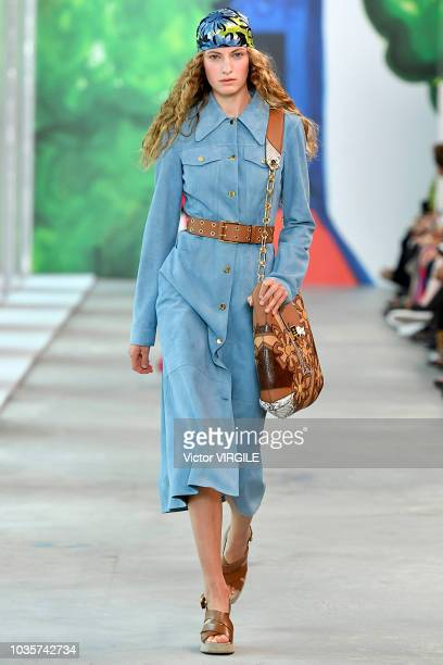 Felice Noordhoff walks the runway at the Michael Kors Ready to Wear Spring/Summer 2019 fashion show during New York Fashion Week on September 12 2018...