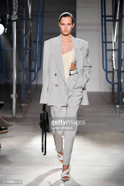 Felice Noordhoff walks the runway at the Proenza Schouler Ready to Wear Spring/Summer 2020 fashion show during New York Fashion Week on September 10,...