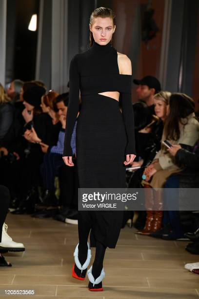 Felice Noordhoff walks the runway at the Proenza Schouler Ready to Wear Fall/Winter 2020-2021 fashion show during New York Fashion Week on February...