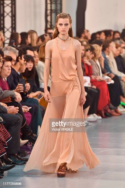 Felice Noordhoff walks the runway during the Chloe Ready to Wear Spring/Summer 2020 fashion show as part of Paris Fashion Week on September 26, 2019...
