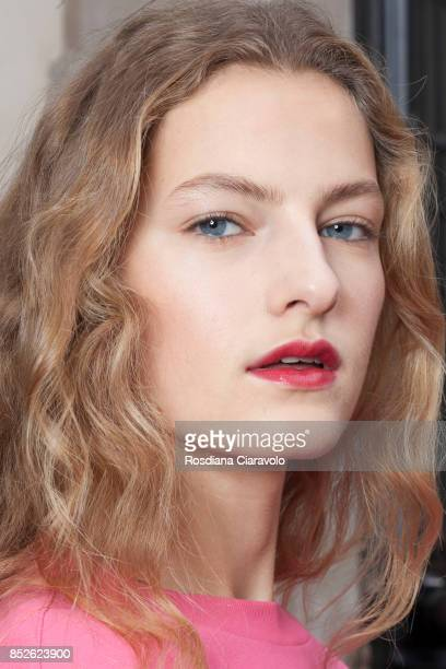 Felice Nova is seen ahead of the Philosophy By Lorenzo Serafini show during Milan Fashion Week Spring/Summer 2018 on September 23 2017 in Milan Italy