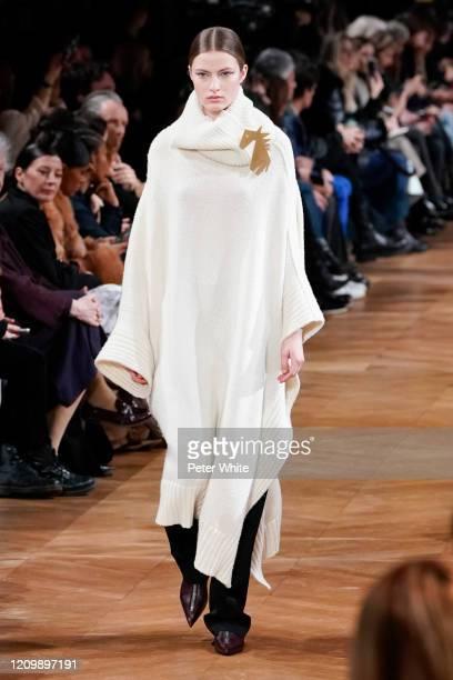 Felice Nova Noordhoff walks the runway during the Stella McCartney as part of the Paris Fashion Week Womenswear Fall/Winter 2020/2021 on March 02...