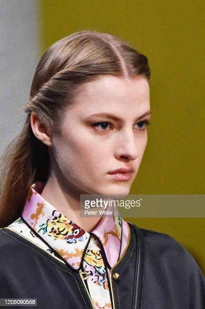 Felice Nova Noordhoff walks the runway during the Tory Burch Fall Winter 2020 Fashion Show at Sotheby's on February 09, 2020 in New York City.