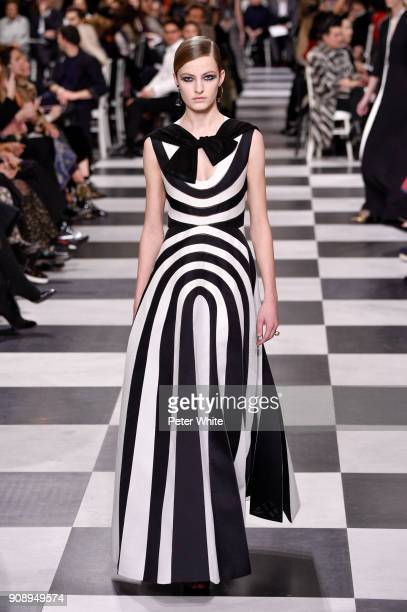 Felice Nova walks the runway during the Christian Dior Spring Summer 2018 show as part of Paris Fashion Week on January 22 2018 in Paris France