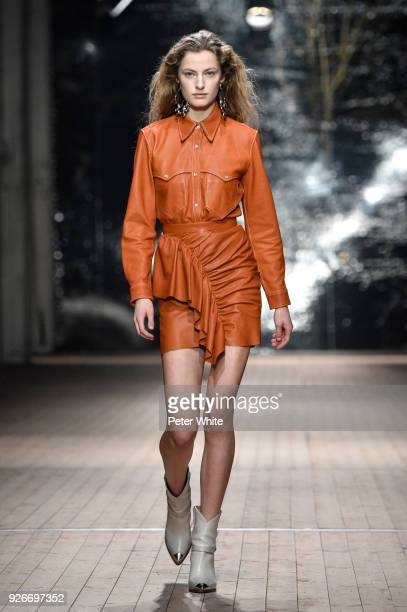 Felice Nova walks the runway during the Isabel Marant show as part of the Paris Fashion Week Womenswear Fall/Winter 2018/2019 on March 1 2018 in...