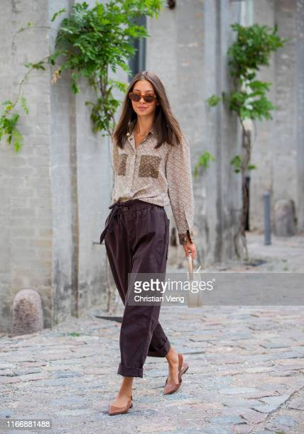 Felicia Akerstrom is seen outside Designers Remix during Copenhagen Fashion Week Spring/Summer 2020 on August 08, 2019 in Copenhagen, Denmark.