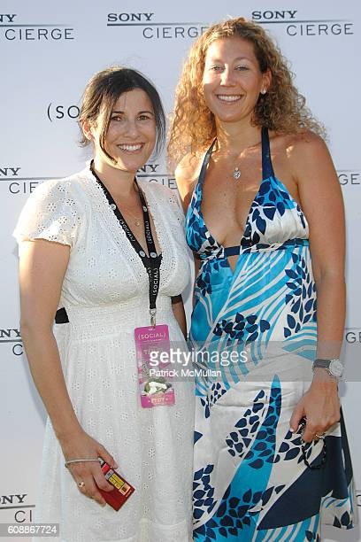 Felicia Alexander and Amy Berman attend SONY CIERGE Lounge at the Social's James Taylor Concert at The Ross School on August 11 2007 in East Hampton...