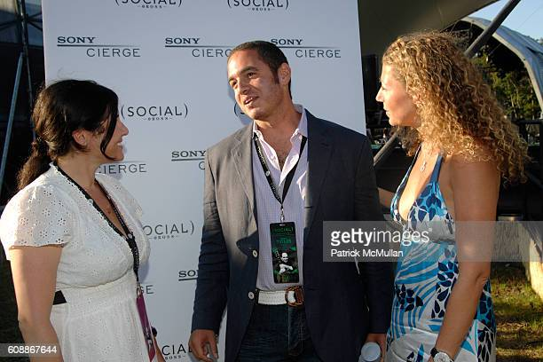 Felicia Alexander Joe Meli and Amy Berman attend SONY CIERGE Lounge at the Social's James Taylor Concert at The Ross School on August 11 2007 in East...
