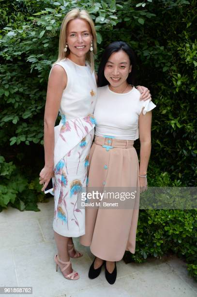 Felicia Brocklebank and Edeline Lee attend the 2018 BFC Fashion Trust grant recipients announcement hosted by Megha Mittal on May 23 2018 in London...