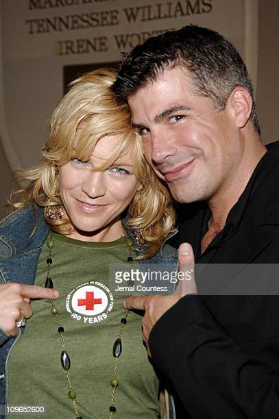 Felicia Finley and Bryan Batt during Broadway's Celebrity Benefit for Hurricane Relief Backstage at The Gershwin Theatre in New York City New York...
