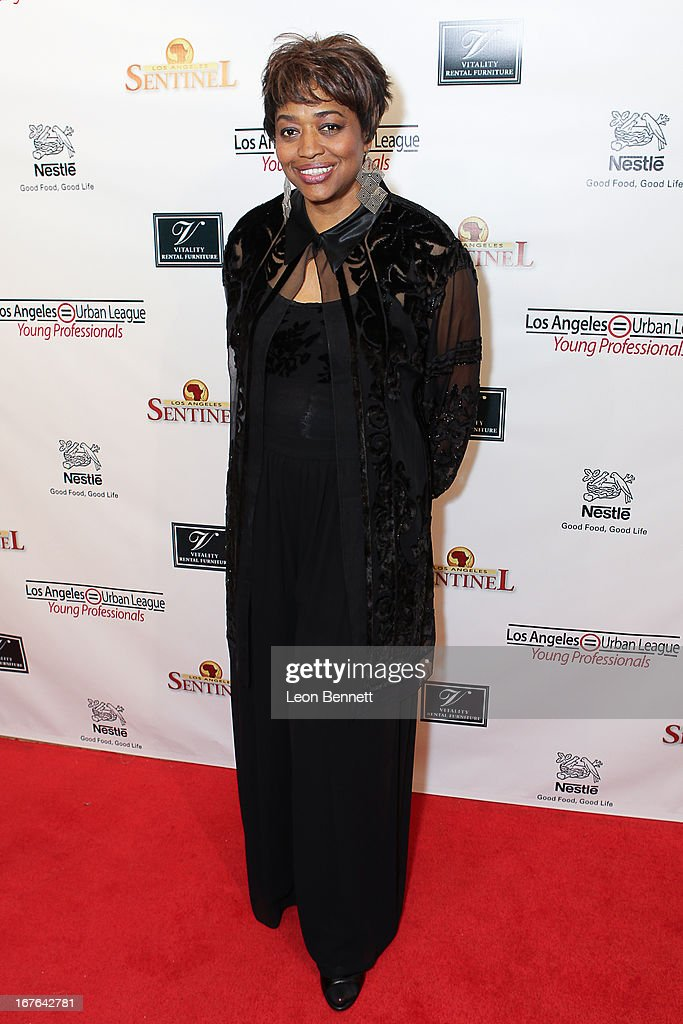Felicia Fisher Shamu arrived at the LA Urban League Young Professionals 3rd Annual To The Nines After Party at The Beverly Hilton Hotel on April 26, 2013 in Beverly Hills, California.